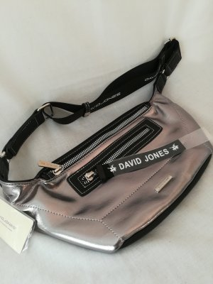 Bumbag silver-colored synthetic material