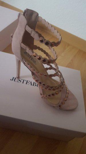 JustFab High Heel Sandal rose-gold-coloured
