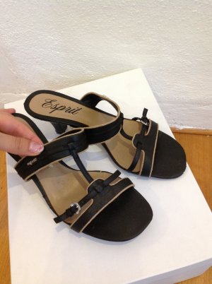 Esprit High-Heeled Sandals black-beige