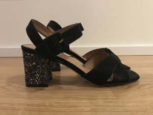 Buffalo High-Heeled Sandals black-silver-colored