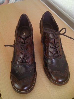 Catwalk Lace-up Pumps dark brown-brown imitation leather