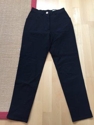 Schicke schwarze Leinenhose Gr. 38  von STIFF