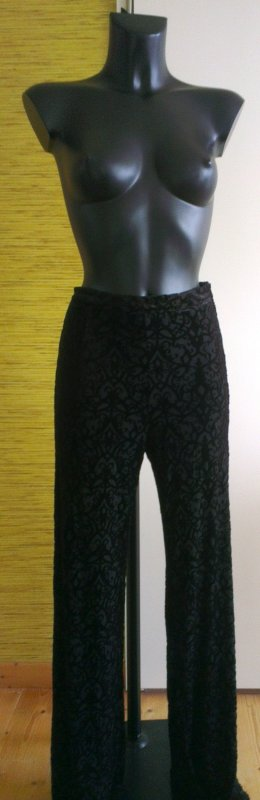 H&M Divided Pantalon strech noir polyester