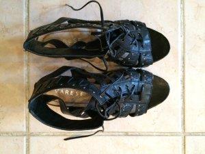 schicke schwarze Sandaletten