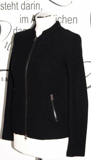 Schicke schwarze Strickjacke - 100% Lambswool, neuwertig!