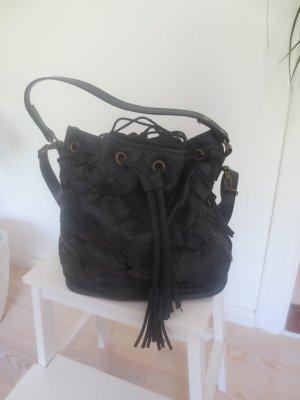 schicke schwarze Tasche, mit Innensack