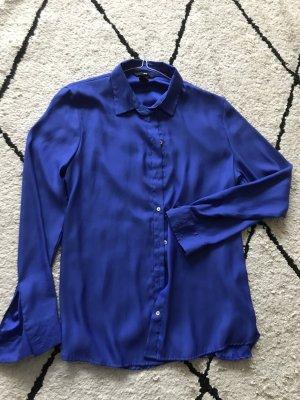 H&M Blouse en soie bleu