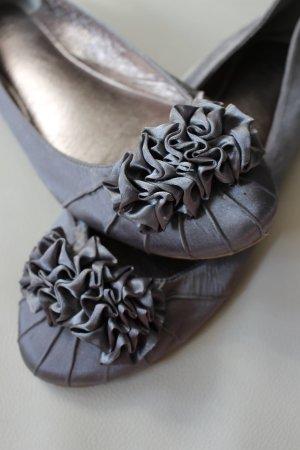 Buffalo Ballerinas silver-colored-grey