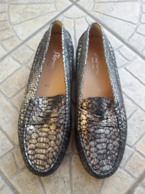 Sioux Slippers black-silver-colored