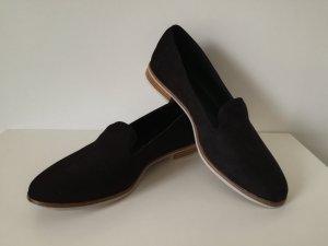 Schicke Slipper, schwarz