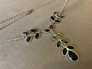 Schicke Statement Kette * Statementkette * Fashion Kette * Blumen Blätter Halskette