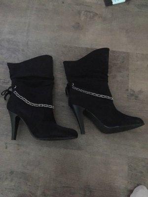 Schicke Stiefel mit GlitzersteinchenNoch nie getragen In Größe 38