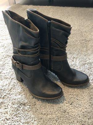 Mustang Western Boots grey-grey brown