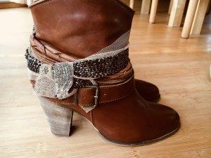 Schicke Stiefelette  Stiefel braun Görtz Echtleder Cowboystiefel