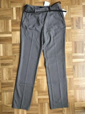 Zara Pantalon en jersey gris anthracite-gris brun tissu mixte