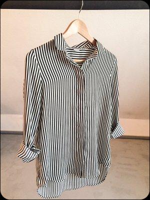 Schicke streifen Bluse mit leichtem Glanz