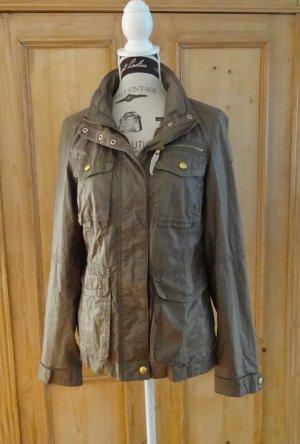 Schicke taillierte Jacke - gewachste Baumwolle -  m. Kapuze - Esprit - Gr. 38 #Frühling