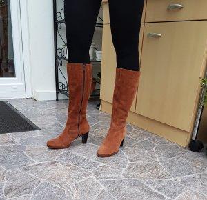 schicke Tamaris Stiefel camel braun sexy Stiefel Leder Wildleder Größe 40