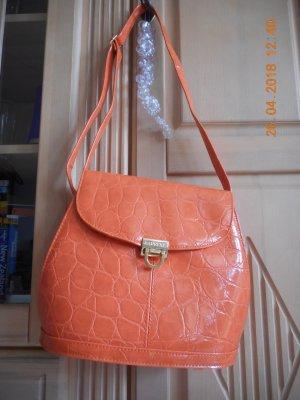 Carry Bag neon orange imitation leather