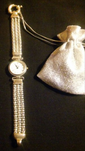 Schicke Uhr echte Silber 925