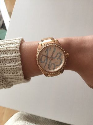 Fossil Watch With Metal Strap rose-gold-coloured-silver-colored