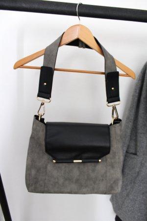 New Look Handtas zwart-groen-grijs