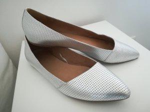 5th Avenue Bailarinas con punta color plata