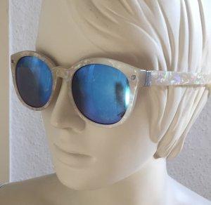 Monki Occhiale da sole rotondo crema-blu