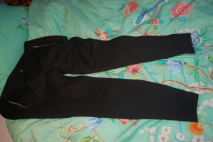 Pantalon taille haute noir tissu mixte