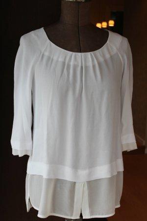 schicke weiße Bluse / Blusenshirt von Comma in Gr. 36