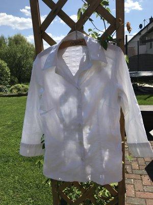 Schicke weiße Bluse, Gr. 38, Adagio