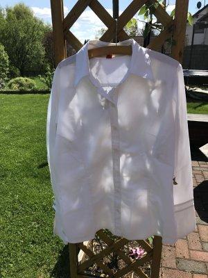 Schicke weiße Bluse, Gr. 40, S. Oliver