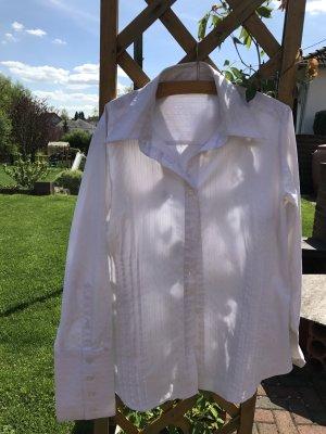 Schicke weiße Bluse, Gr. 44