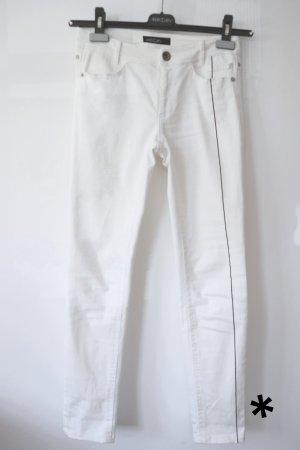 Marc Cain Drainpipe Trousers white cotton