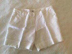 Schicke weiße Leinen-Shorts von Orsay in Größe ca. 38