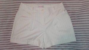 Schicke weiße Nadel Streifen Shorts