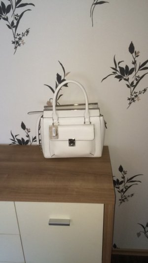 Schicke weiße Tasche aus Lederimitat