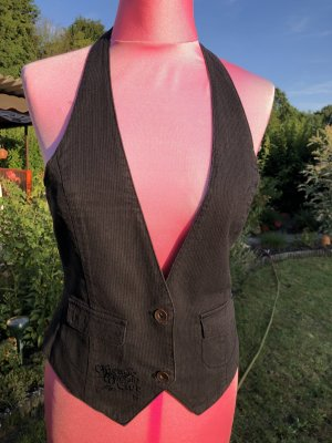 Only Knitted Vest black cotton