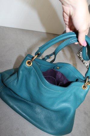 Miu Miu Sac à main bleu pétrole-turquoise