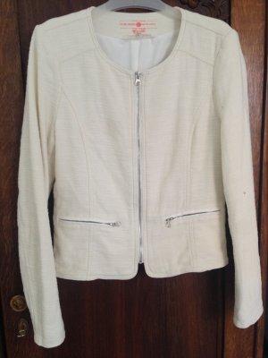 Schicker Baumwoll-Blazer in off white mit leichter Struktur, Größe L, nie getragen, von Tom Tailer Denim