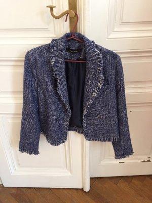 Schicker blau-weißer Blazer in Chanel-Look