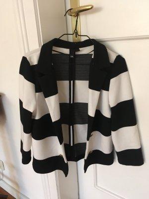 H&M Blazer sweat blanc-noir