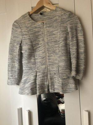 H&M Divided Wool Blazer white-light grey