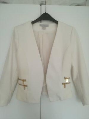 H&M Veste courte blanc cassé