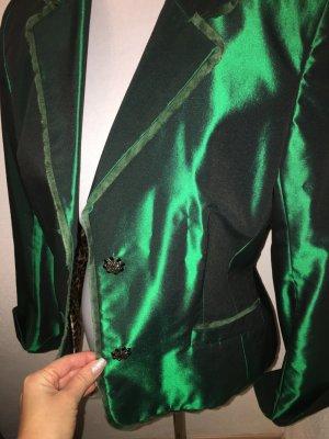 Schicker Blazer grün metallic, absolutes Schnäppchen!