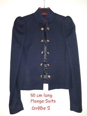 Mango Suit Chaqueta militar azul oscuro