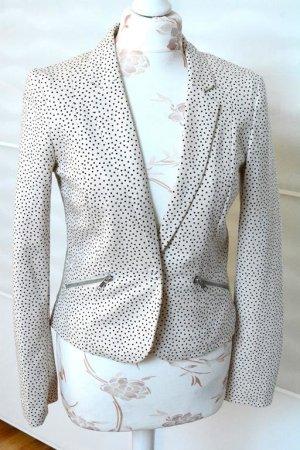 Schicker Blazer mit Polka Dots / Punkten und Zippern an den Taschen Gr. S