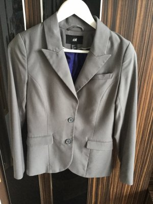 Boyfriend Blazer grey-dark blue