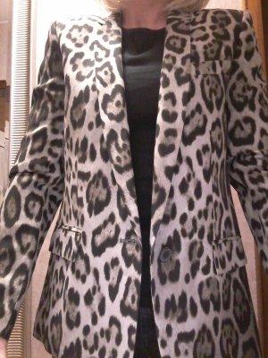 Zara Woman Unisex blazer lichtbruin-zwart Viscose