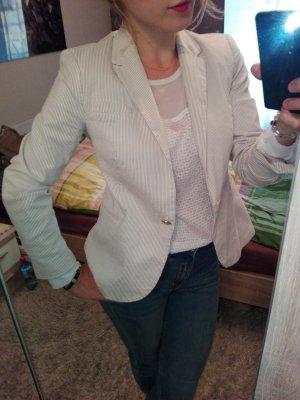 Zara Blazer largo beige claro-beige